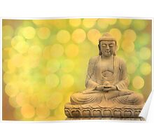 buddha light yellow Poster