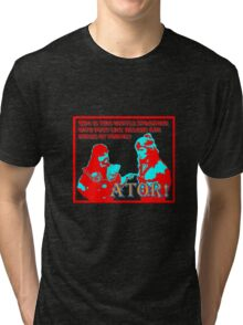 Ator the Invincible!  bright for dark backgrounds Tri-blend T-Shirt