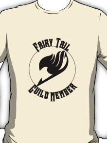 Fairy Tail Guild Member- Black Text T-Shirt