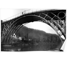 The Ironbridge, Shropshire B/W Poster