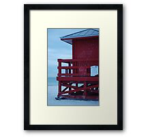 red, with tin roof Framed Print