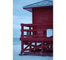 red, with tin roof Photographic Print