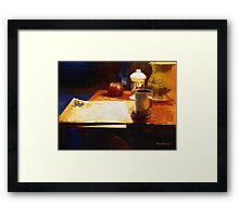 Another Night with Nothing But the News Framed Print