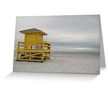 gazing out to sea Greeting Card
