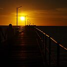 Walking along the jetty by janfoster