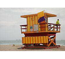stripes - miami beach Photographic Print