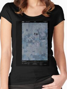 USGS Topo Map Washington State WA Saint Andrews 20110425 TM Inverted Women's Fitted Scoop T-Shirt