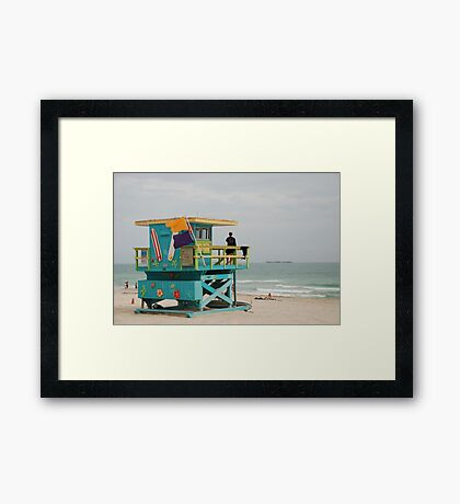 miami beach colours Framed Print