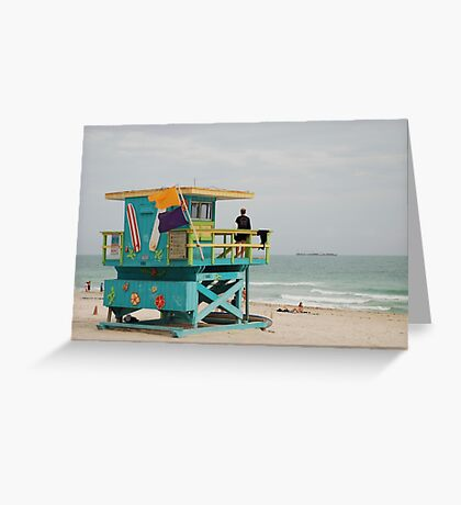 miami beach colours Greeting Card
