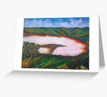 Salt lakes Greeting Card