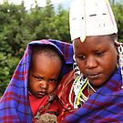 Sombre Mother & Child, Maasai, Kenya by Carole-Anne