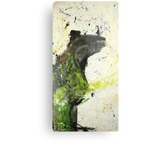 Bear tries but his hands tell lies Metal Print