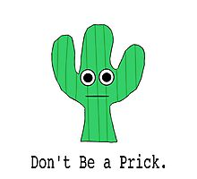 Don't be a Prick Photographic Print