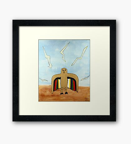 Dancing Robot  Bird Framed Print