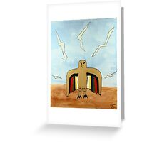 Dancing Robot  Bird Greeting Card