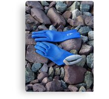 Fishing Gloves Canvas Print