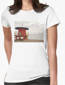 no lifeguard on duty Womens Fitted T-Shirt