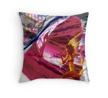 Running With Traffic Throw Pillow