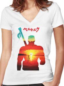 Guts Berserk Women's Fitted V-Neck T-Shirt