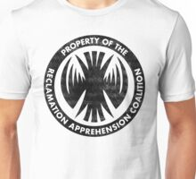 Property of the RAC Distressed- Reclamation Apprehension Coalition Unisex T-Shirt