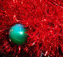 Christmas Bauble on a red tree. by Billlee
