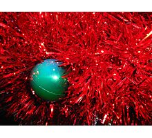 Christmas Bauble on a red tree. Photographic Print