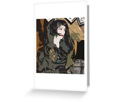 Pop arty tarot inspired collage - La Mort Greeting Card