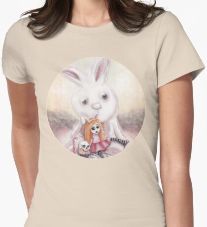 Ester and Bunny Womens Fitted T-Shirt