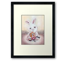Ester and Bunny Framed Print