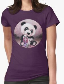 Candie and Panda Womens Fitted T-Shirt