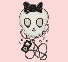 Girly Skull with Black Bow / Die for Music Baby Tee