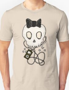 Girly Skull with Black Bow / Die for Music Unisex T-Shirt