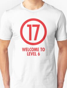 Welcome to Level 6 - Red 17 T-Shirt
