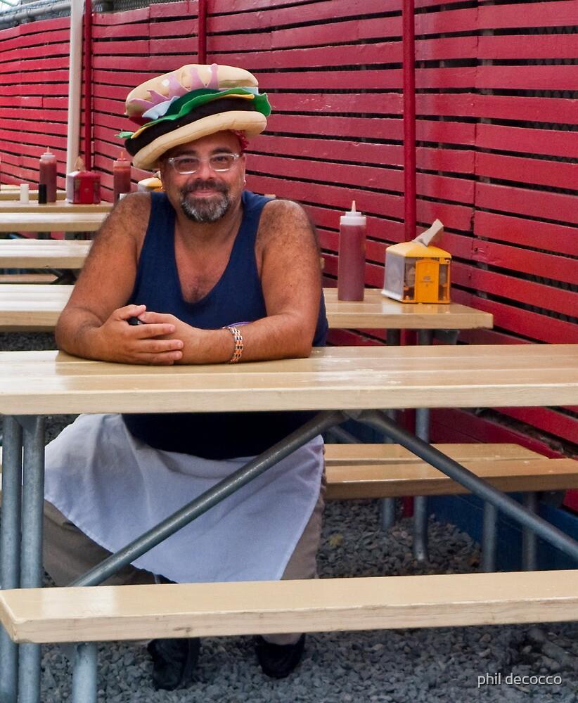 Hamburger Hat by phil decocco