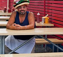Hamburger Hat by phil decocco