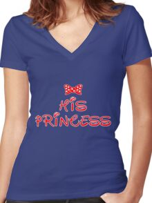 HIS PRINCESS Women's Fitted V-Neck T-Shirt