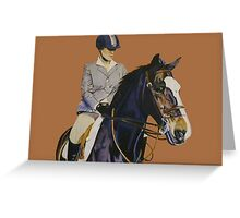 Concentration - Hunter Jumper Horse & Rider Greeting Card