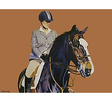 Concentration - Hunter Jumper Horse & Rider Photographic Print