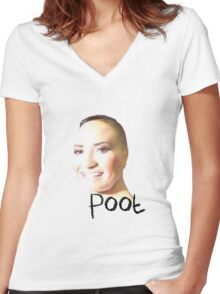 Poot Women's Fitted V-Neck T-Shirt