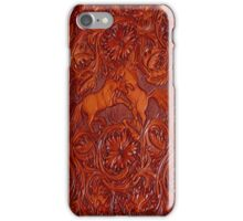 wild horses leather iPhone Case/Skin