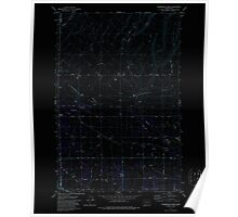 USGS Topo Map Washington State WA Sagebrush Ridge 243558 1979 24000 Inverted Poster