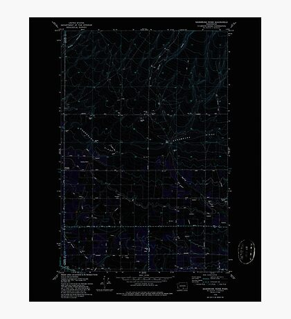 USGS Topo Map Washington State WA Sagebrush Ridge 243558 1979 24000 Inverted Photographic Print