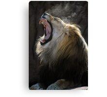 Yawning King Canvas Print