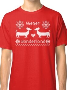Wiener Wonderland in Festive Red - Dachshund Sausage Dog Classic T-Shirt