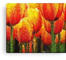 Red Tulip Painting Art Canvas Print