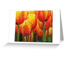 Red Tulip Painting Art Greeting Card
