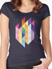 My Little Pony - Mane Six Abstraction I Women's Fitted Scoop T-Shirt