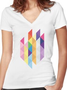 My Little Pony - Mane Six Abstraction I Women's Fitted V-Neck T-Shirt