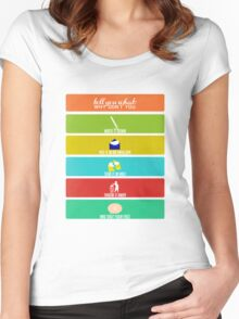 Cabin Pressure: Shut Your Face! Women's Fitted Scoop T-Shirt