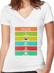 Cabin Pressure: Shut Your Face! Women's Fitted V-Neck T-Shirt